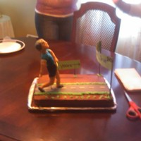 Birthday Cake With Modeling Chocolate Figure