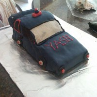 Car Cake I made this for my friend's 3 year old son. He chose to have a blue car cake.