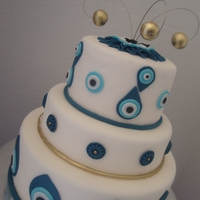 The Good Luck Eye Wedding Cake   Red velvet cake with cream cheese filling