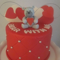 Bear With Me   chocolate cake with cholate mousse filling, the decorations are maade out of gum paste