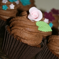 Double Chocolate Cupcake With Fondant Rose