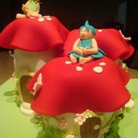 Magical Toadstool Elf Village This was made for a little girl, Lily who was turning 4 and wanted something magical. There are 3 chocolate and orange maderia cakes with...