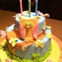 4Th Birthday Owl Cake