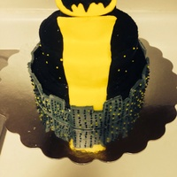 Batman- Bat Signal   Batman birthday cake. Buttercream icing and mold able buttercream. :)