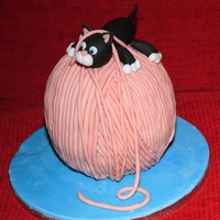 Playful Kitten Cake Followed the instructions from a Debbie Brown book - first attempt at a character cake and it has given me the cake decorating bug!