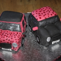 Leopard Print Mini Cake One chocolate, one vanilla cake, coated in matching buttercream and then covered in fondant. Diluted gel colouring was used to paint the...
