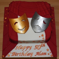 50Th Birthday Cake For A Theatre Lover Made for a friend who is part of a local theatre group. It was my husband who suggested the theme and after a quick search of this fabulous...