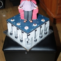Cake Lover Retiring From Post Office 4-layer madeira cake with jam and buttercream covered in fondant and decorated to symbolise a Post Office counter. Madeira armchair on top...