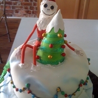 The Nightmare Before Christmas The little girl I made this cake for was having a Christmas party, so I opted to make the cake more Christmasy than Halloween. The...