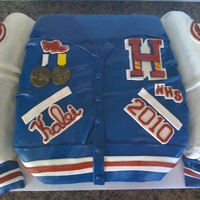 Letterman Jacket Cake   High School Letterman Jacket