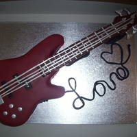 Red Electric Bass   Red Electric Bass grooms cake