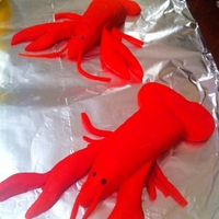 Crawfish Boil I made these for a cake but the party got canceled last minute so I didn't finish the cake (it was going to be a stock pot w/the...