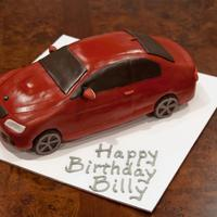 Bmw M3 Car Chocolate cake, oreo filling, BC, and MFF - (For my brother's 20th birthday) This car took forever and I probably will not make...