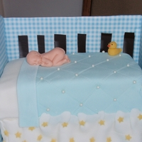 Crib Cake   Crib cake for daughter's baby shower