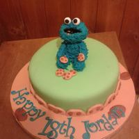 Cookie Monster 18Th Birthday *Chocolate with Choc SMBC