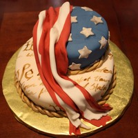 Made This Cake For Forth Of July Fundraising Event For A Charity   Made this cake for Forth of July Fundraising event for a charity.