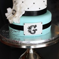 My Second Wedding Cake With Handmade Fondant G Tags Teal Black Plaque 2 Tier Wedding Cake Quilting   My second wedding cake with handmade fondant G. Tags: Teal, Black, Plaque, 2 tier wedding cake, quilting