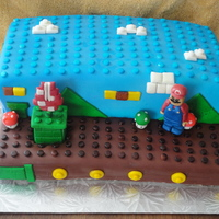 Lego Mario All chocolate cake covered in MMF. I am not a lego or Mario pro, so I used this cake idea from another CC member, PennieK. Had planned on...