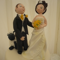 Bride And Groom   Bride and groom topper made with Satin ice gum paste...