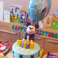 Leo 1St Birthday Cake   mickey mouse