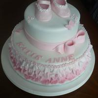 Little Girls Christening Cake   *little girls Christening cake