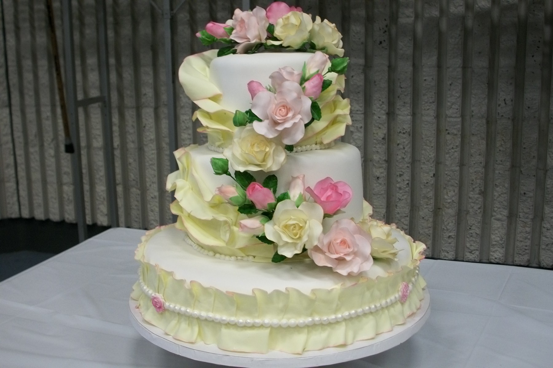 My Very First Wedding Cake Inspiration Was From Artisan Cake Company The Roses Were Made After I Took The Ultimate Sugar Rose Class From My very first wedding cake. Inspiration was from Artisan Cake Company.. The roses were made after I took The Ultimate Sugar Rose class from...