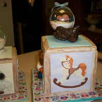 Two Block Cakes For A Baby Shower Each Tile Is 2 D And The Baseball Glove Is Modeling Chocolate Two block cakes for a Baby Shower. Each tile is 2-D and the baseball glove is modeling chocolate.