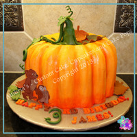 Little Bear's Fall Party This cake was my 1st Icing Smiles cake for a little boy named James. I feel blessed to have had this opportunity. The cake is a double-...