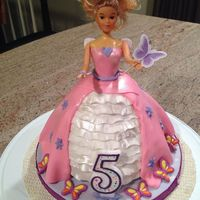 Barbie Doll Princess Fairy Cake Barbie Doll Princess cake