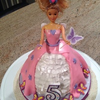 Princess Barbie Doll Cake Princess Barbie Doll Cake
