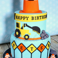 "Inspired By A Cake By Steel Penny Cakes Two Tier 6 8 Round Cake With All Fondant Accents Construction Cone Topper Made From Rkt Smoot Inspired by a cake by Steel Penny Cakes. Two-tier (6""-8"") round cake with all fondant accents. Construction cone topper made from..."