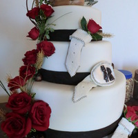 Wedding Cake western wedding cake. All fondant The ducks were the brides request