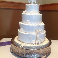 Winter Wedding Cake Snow Flakes winter wedding cake...... snow flakes