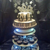 Black And White New Year's Cake