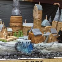 Harry Potter Hogwarts Cake Hogwarts Castle birthday cake. Most of the buildings are RKT, some are cake.