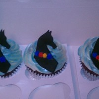 Buckeye Cupcakes These cupcakes were made for the 2011 Buckeye Sweepstakes Arabian and Half Arabian Horse Show. The horse matches the logo for the show (...