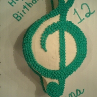 Treble Clef Treble Clef for the singer in the family. She wanted a treble clef made with her favorite color and a big 12 on it. (With no fondant)...