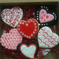 Valentine's Cookies Done in class taught by Jennifer Bartos, All in One Bake Shop, Austin, TX