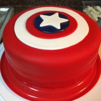 Captain America Shield   Captain America Shield, MMF, Pumpkin spice cake with Cinnamon Cream Cheese Frosting