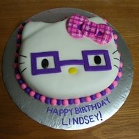 Hello Cutie This is for the same client that ordered the other Hello Kitty Cake. I enjoyed doing the plaid bow.