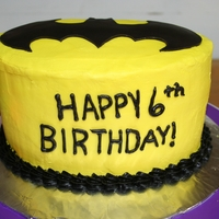 Batman I was really proud of this cake because I have been strugling with shell boarders for a while and this one turned out wonderfully.