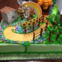 Wizard Of Oz Cake For 4 Year Old Birthday   Wizard of Oz Cake for 4 year old birthday
