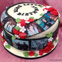 50Th Birthday Timeline Cake   with edible image photos