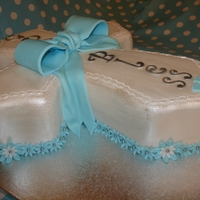 Boy Cross Christening Fondant Cake