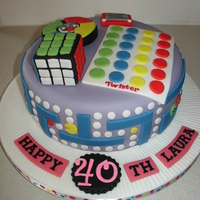 80S Themed Fondant Cake (Jan 2014) Made everything from Fondant/Gumpaste. Hope you like it!! xMCx