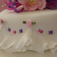 White, Purple And Pink Cake