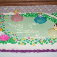 Disney Princess Cake 1/2 sheet white cake covered with homemade bc