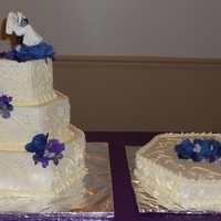 Wedding Cake I made this for me and my husbands 10 yr wedding renewal. This is hexagon shaped and each layer is 4 inches thick done in white cake and...