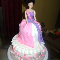 Barbie Cake Barbie Cake.My second big cake I did, the girl wanted a glittery cake.