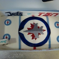 Winnipeg Jets Birthday cake for a family of Wpg Jets fans.